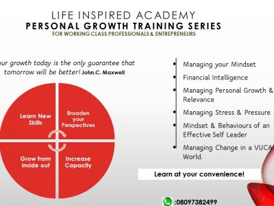 PERSONAL EFFECTIVENESS TRAINING SERIES