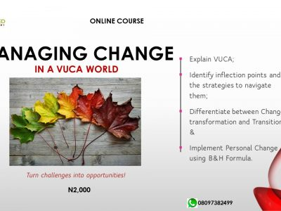 MANAGING CHANGE in a VUCA World