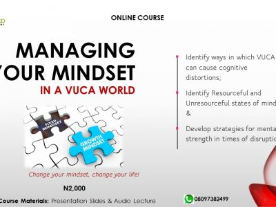 MANAGING YOUR MINDSET in a VUCA World